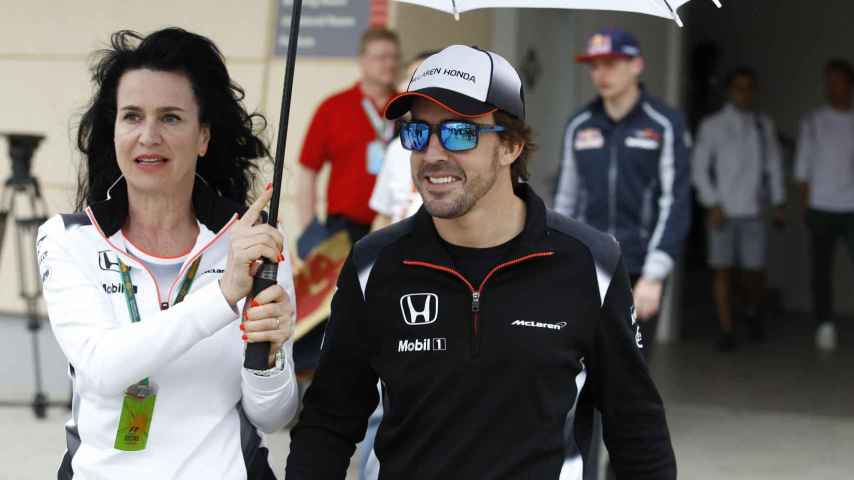 Fernando Alonso en el GP de Bahréin.