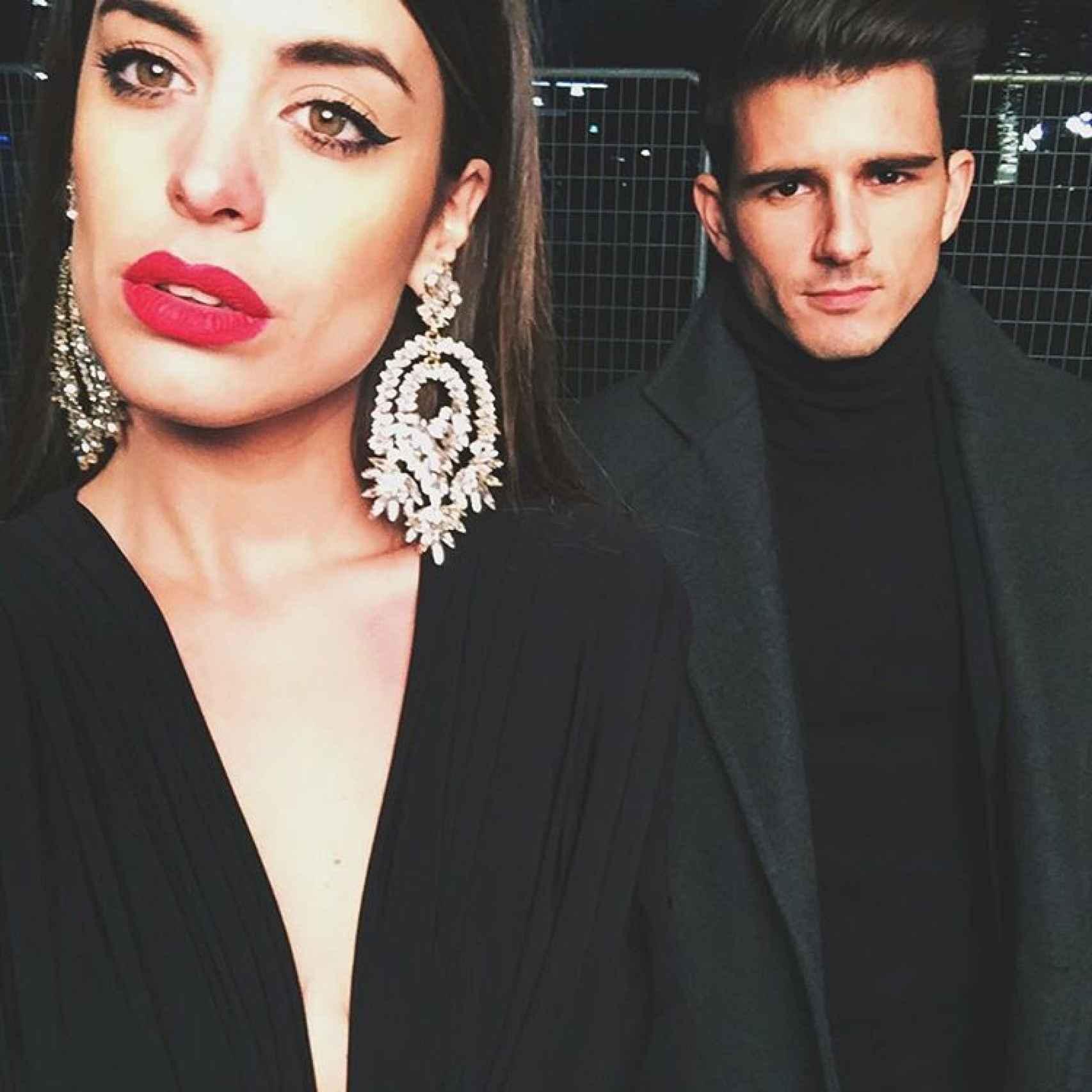 Aida Domenech y su representante Sergi Pedrero