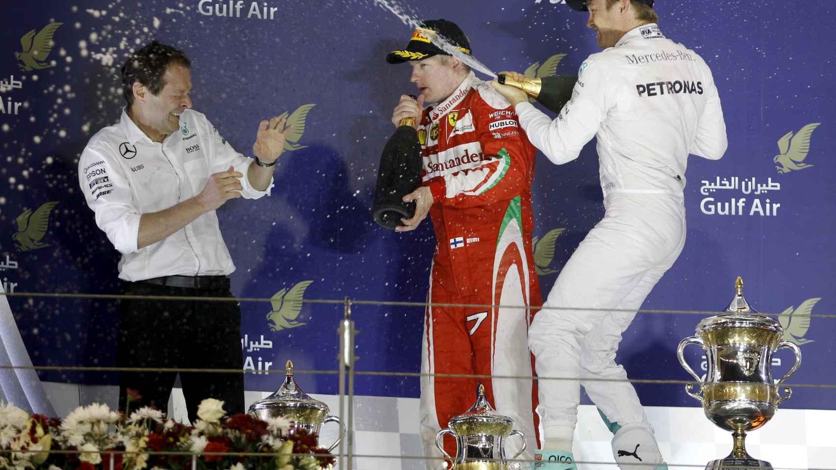Podio del GP de Bahrein.
