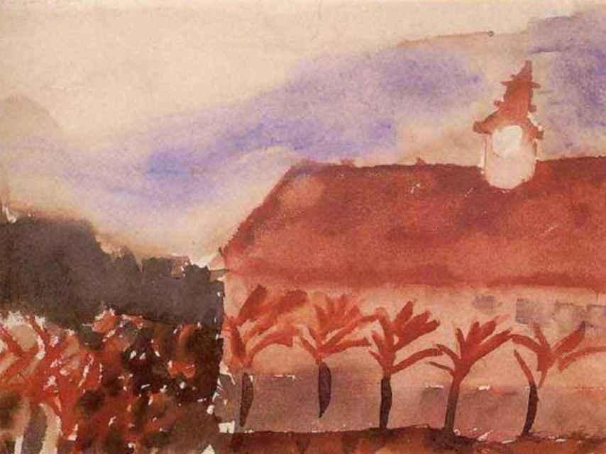 Uno de los dibujos de los niños de Terezín.
