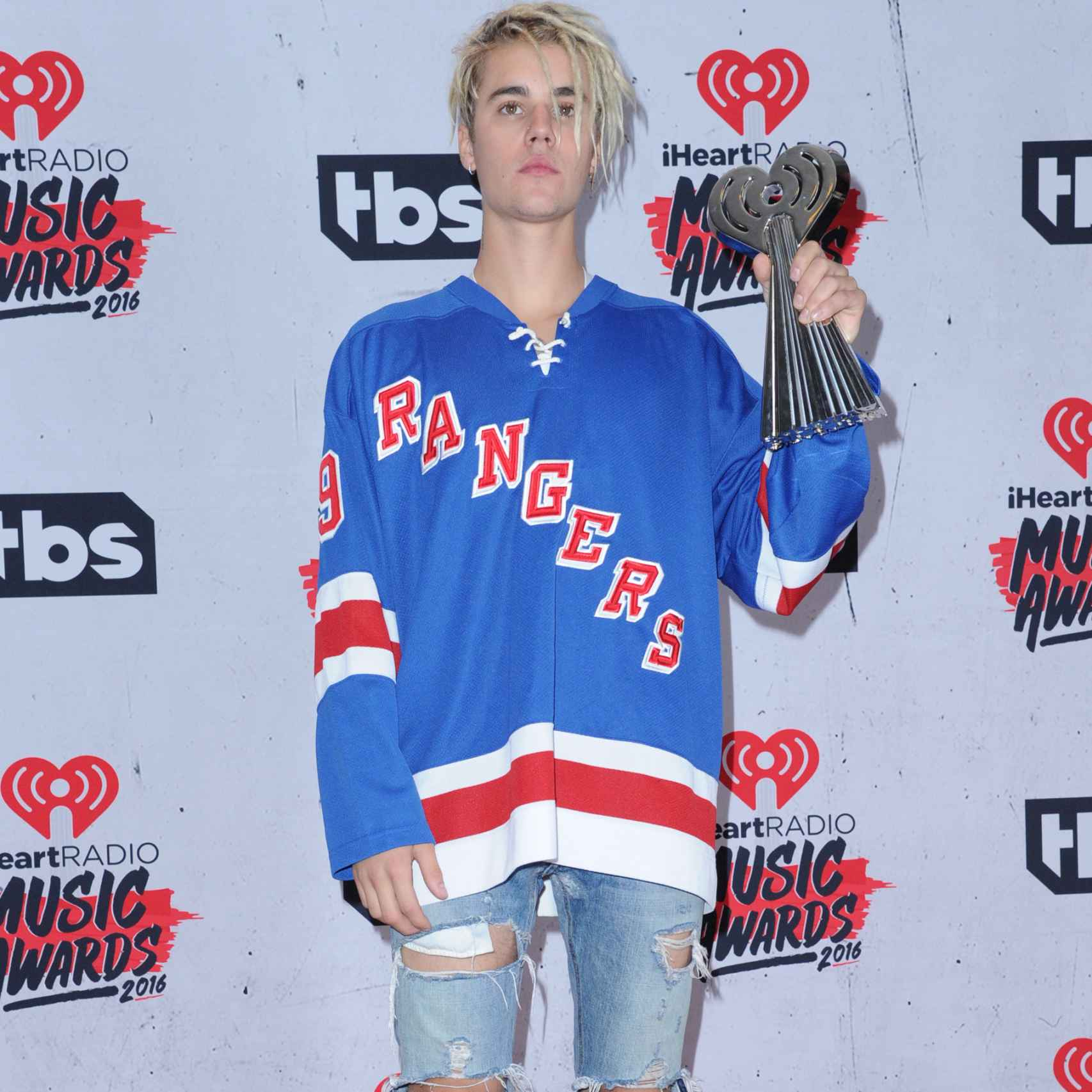 Justin Bieber en el photocall de iHeartRadio