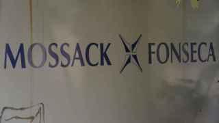 Letrero de la firma de abogados de Panamá Mossack Fonseca