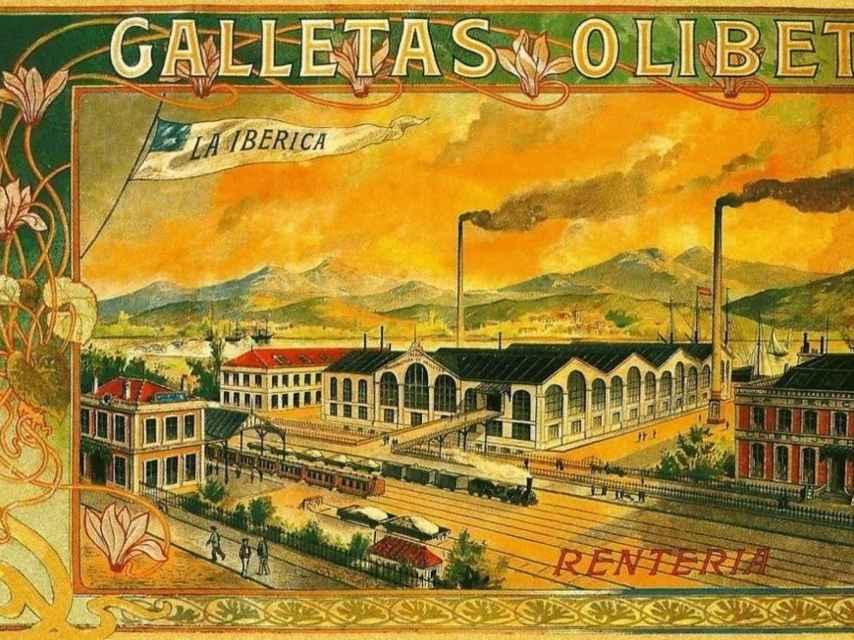 Publicidad de la fábrica de galletas Olibet.