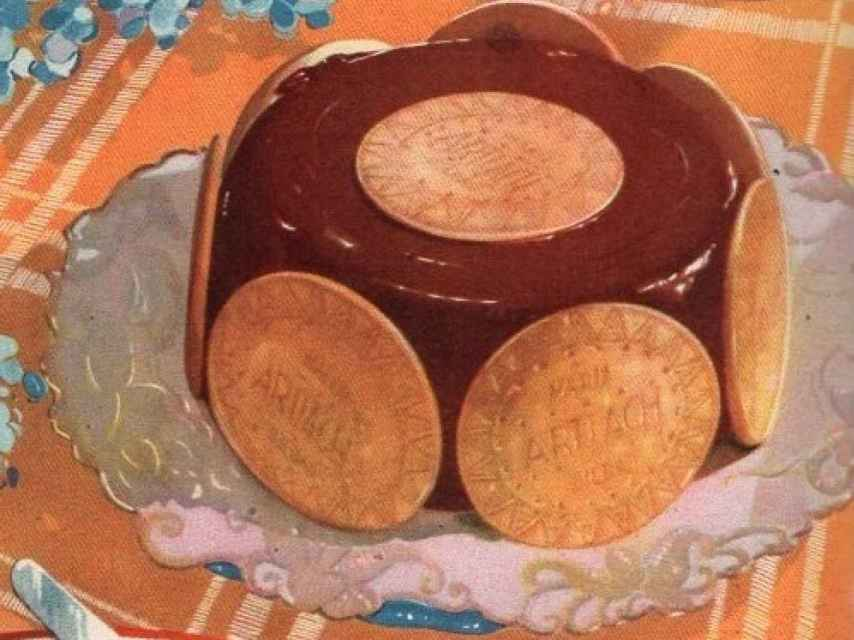 Tarta de chocolate con galletas Artiach.