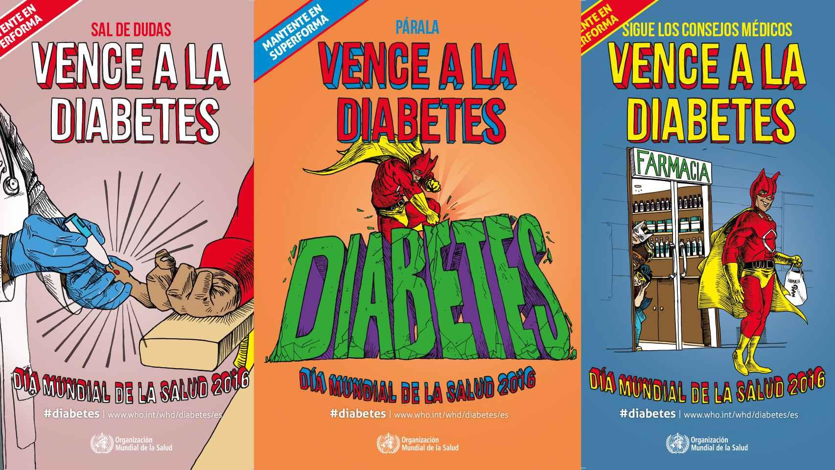 Algunos de los carteles del Día Mundial de la Salud.