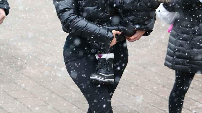 Kim Kardashian y su hija North West en Vail (Colorado)