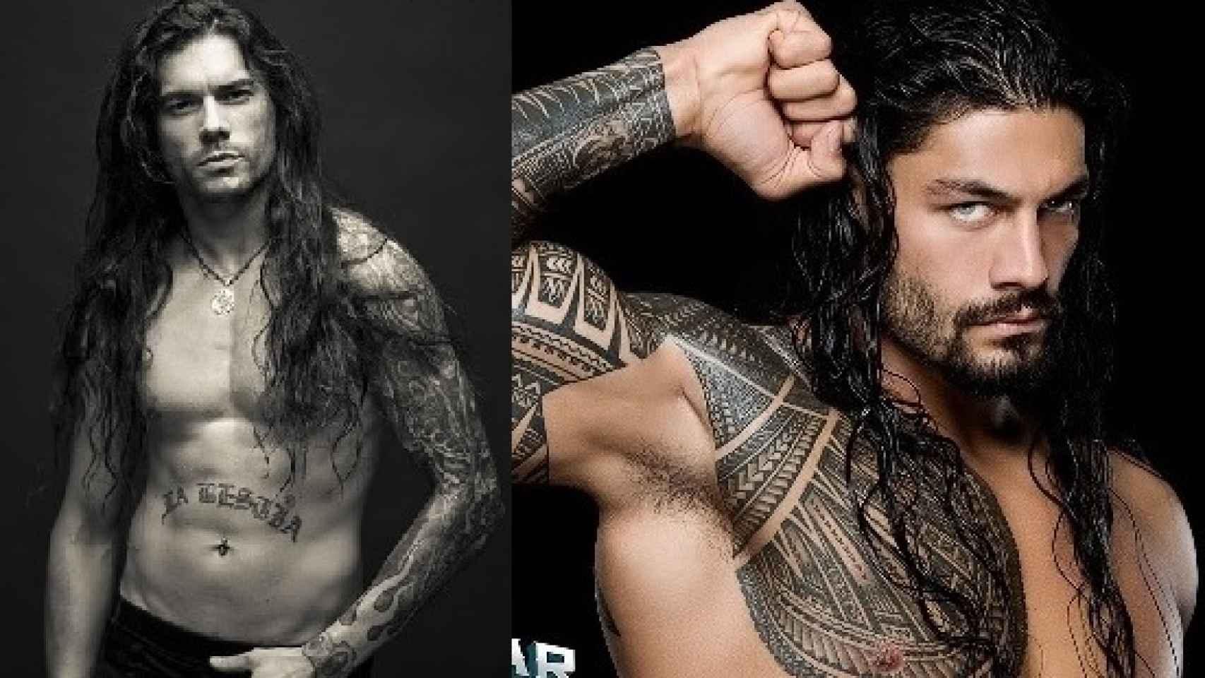 Leo Jiménez, la estrella del rock y Roman Reigns, luchador de la WWE