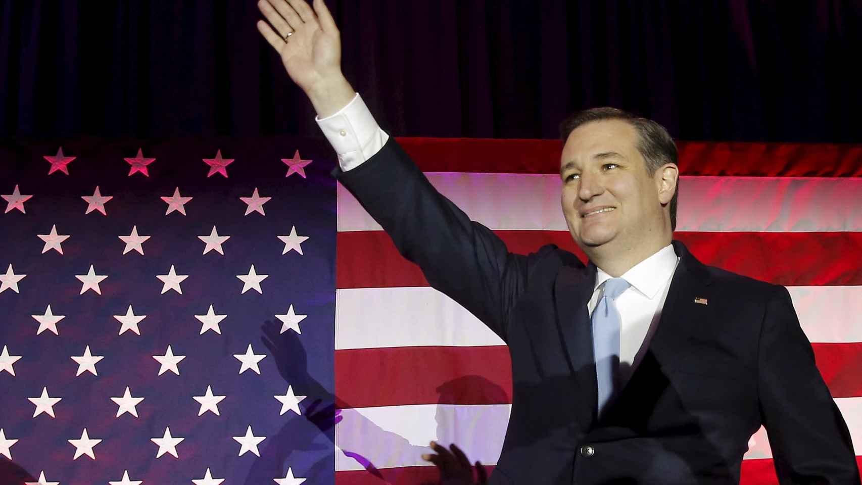 Ted Cruz celebra su victoria en Wisconsin