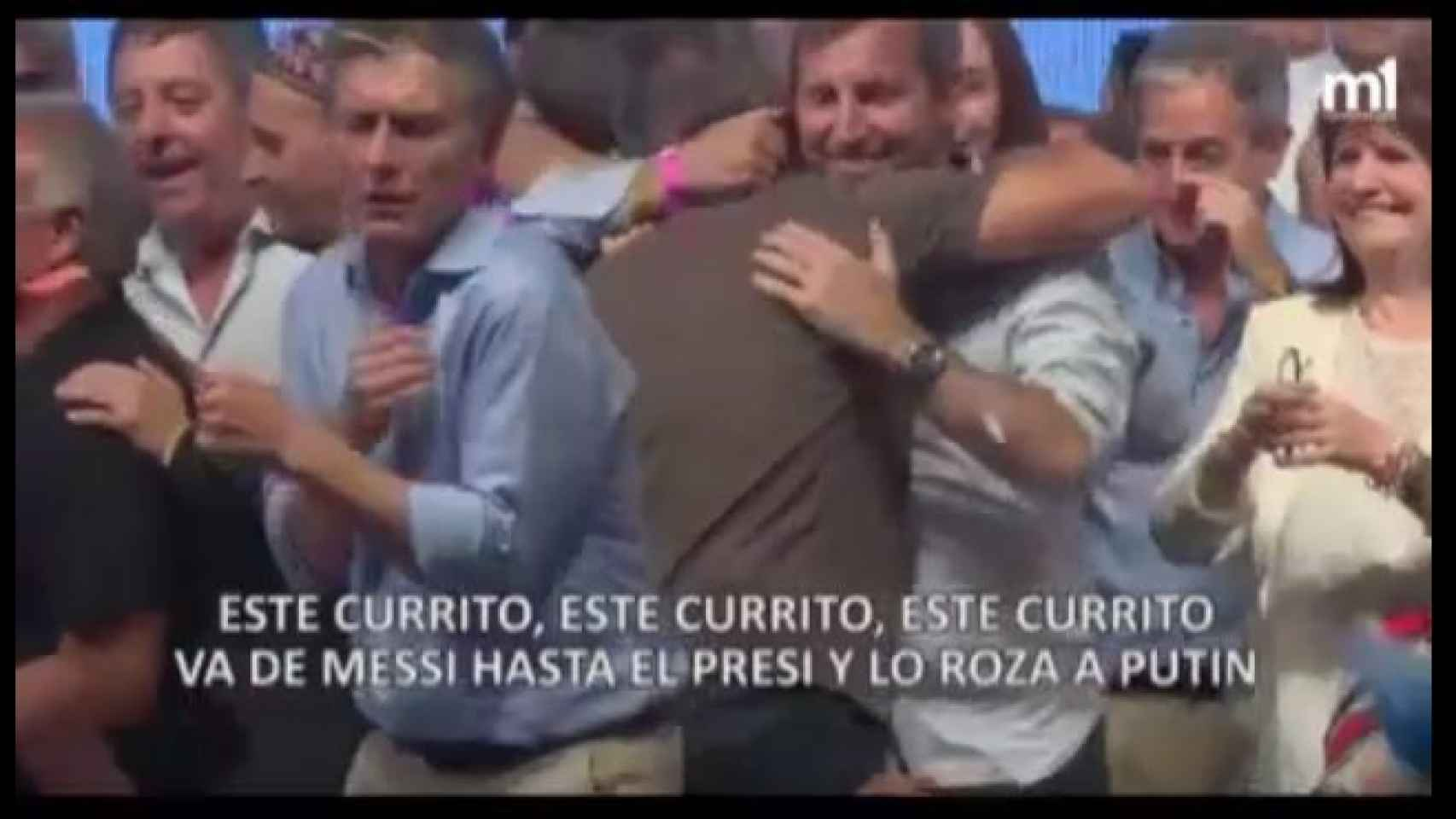 Macri dándolo todo en el reggaeton de los papeles de Panamá.