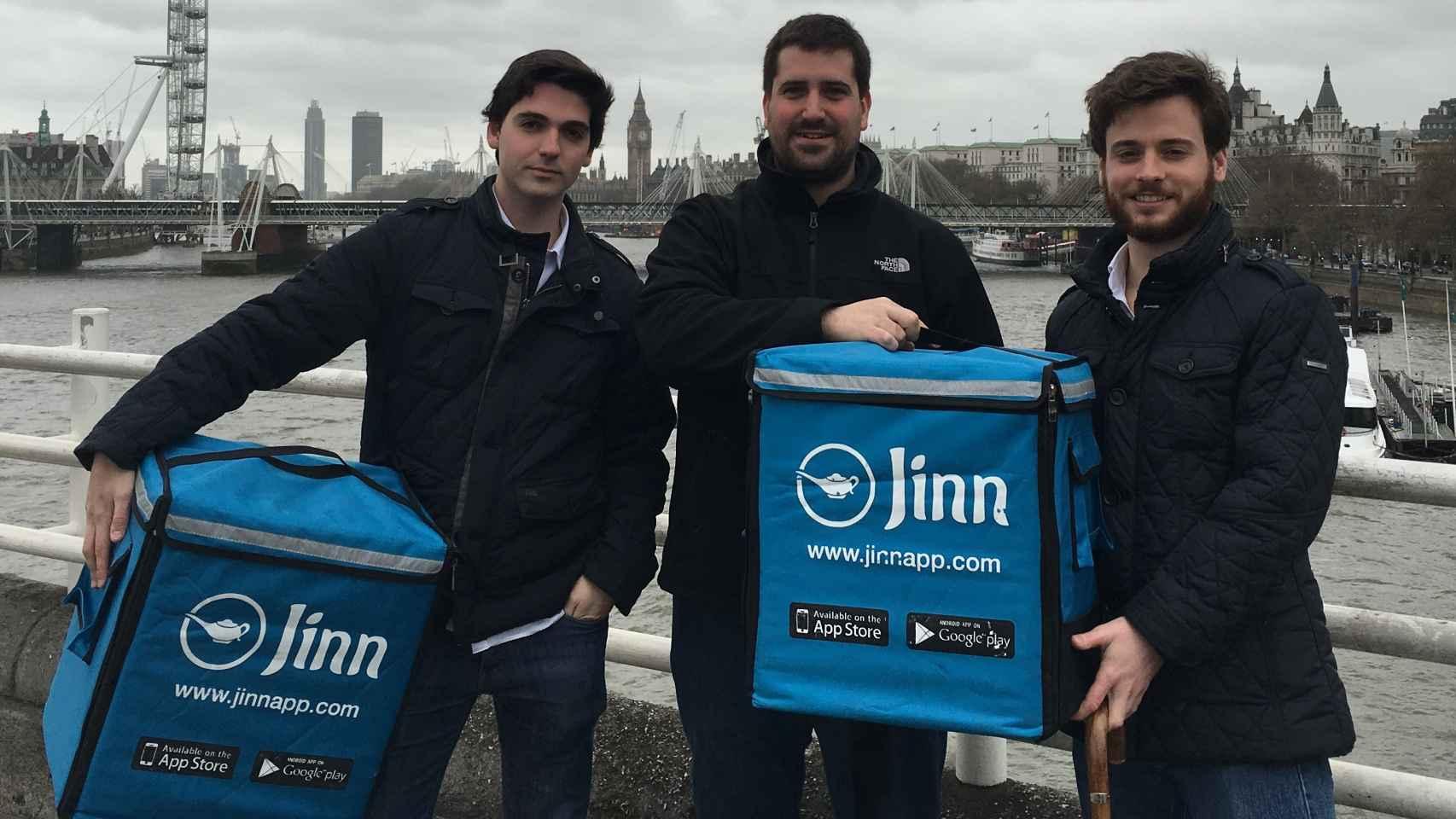 Los tres fundadores de Jinn App.