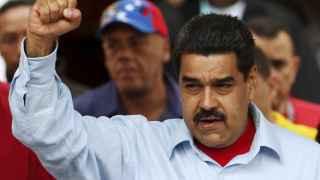 Nicolás Maduro frente a los manifestantes contra la Amnistía en el Palacio de Miraflores
