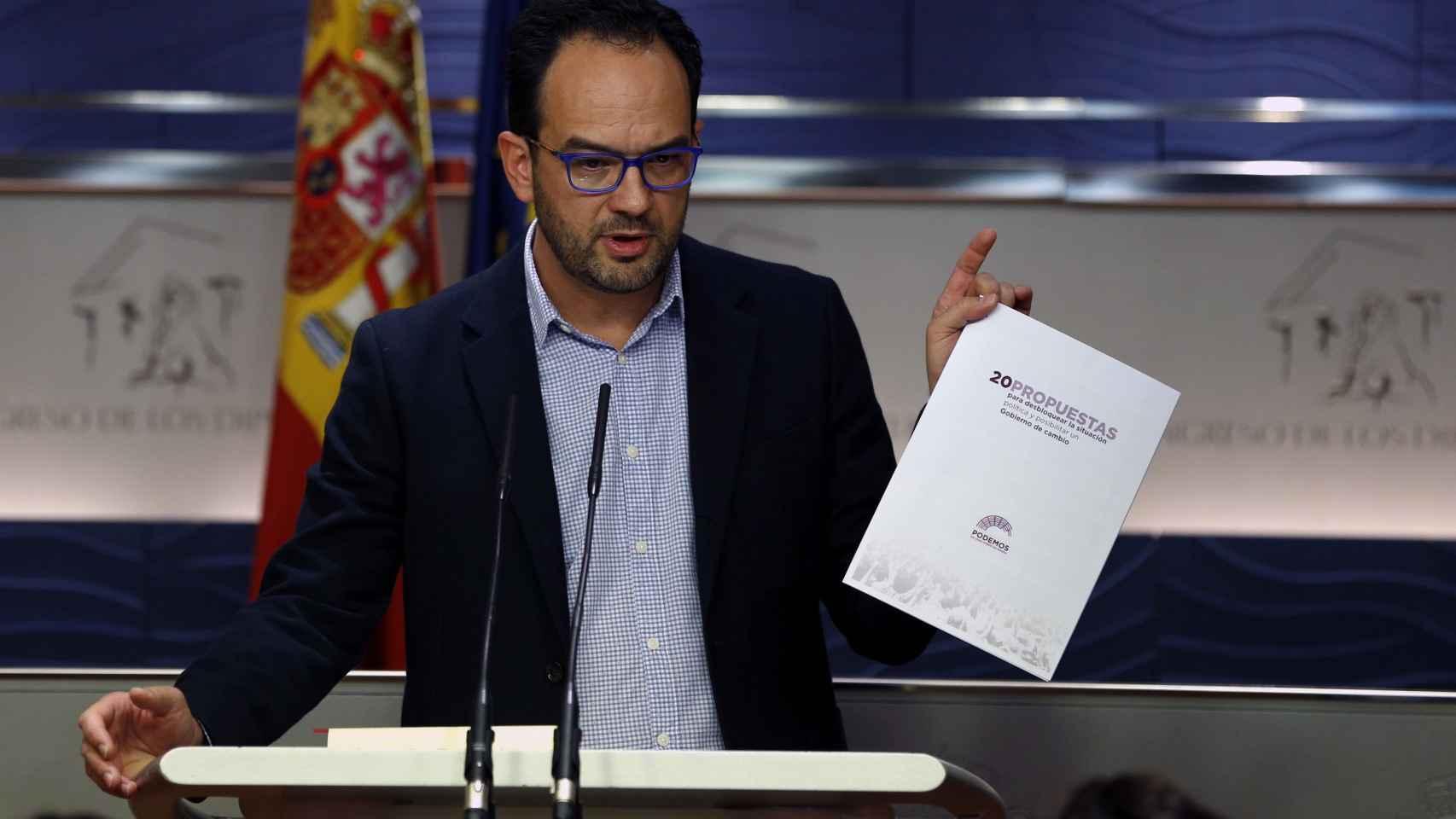 El portavoz parlamentario del PSOE, Antonio Hernando