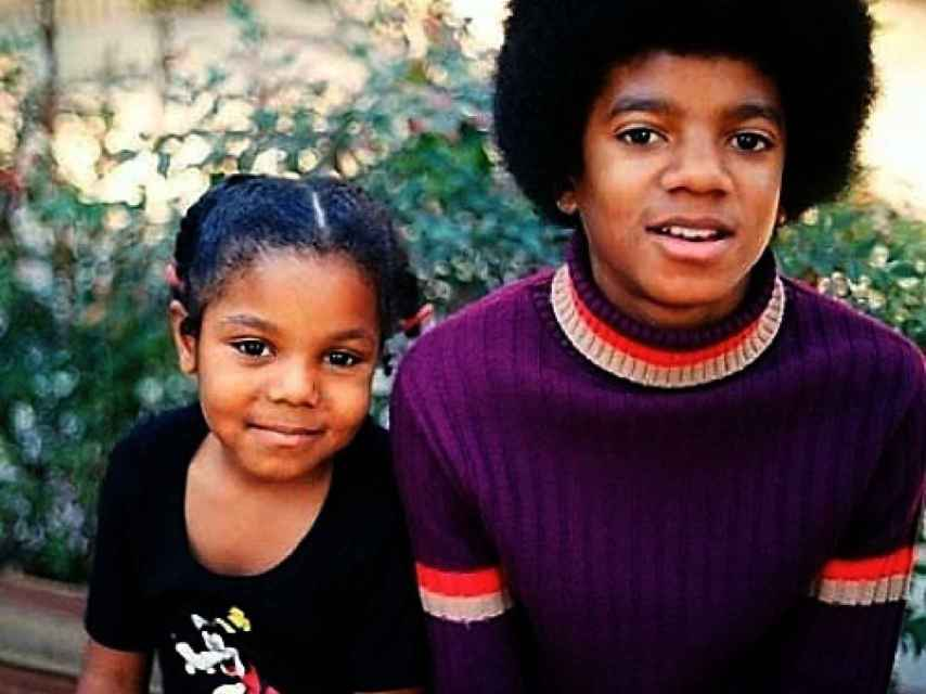 Janet y Michael Jackson de pequeños