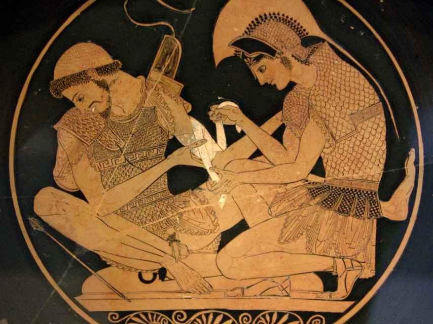 Escena de la antigua Grecia.