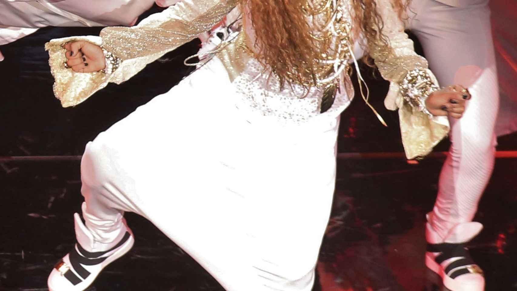 Janet Jackson en el inicio de su gira Unbreakable en Vancouver (Canadá)