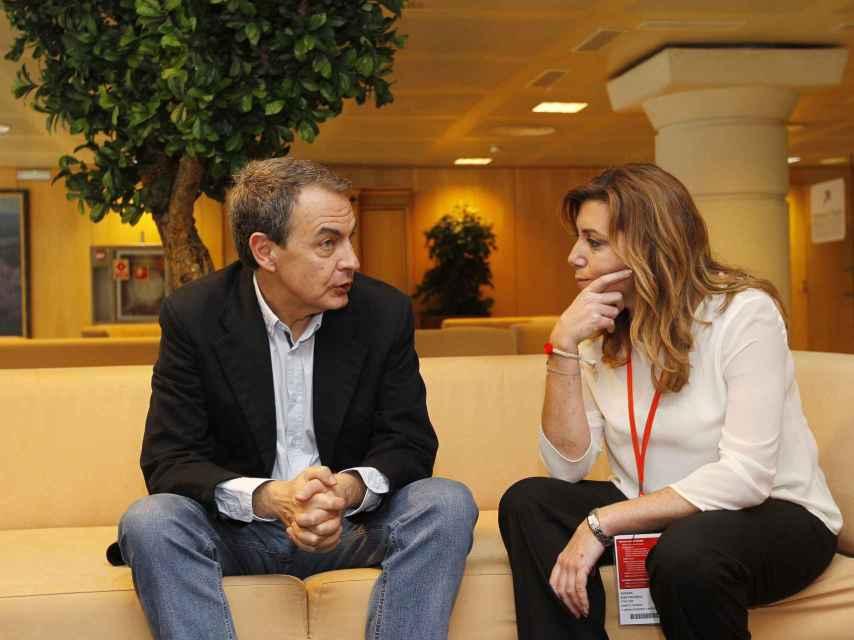 José Luis Rodríguez Zapatero y Susana Díaz en noviembre de 2013.