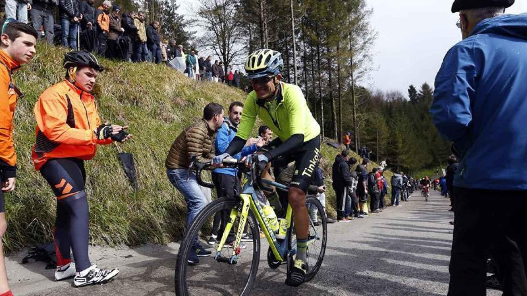 Alberto Contador, en la Vuelta al País Vasco.
