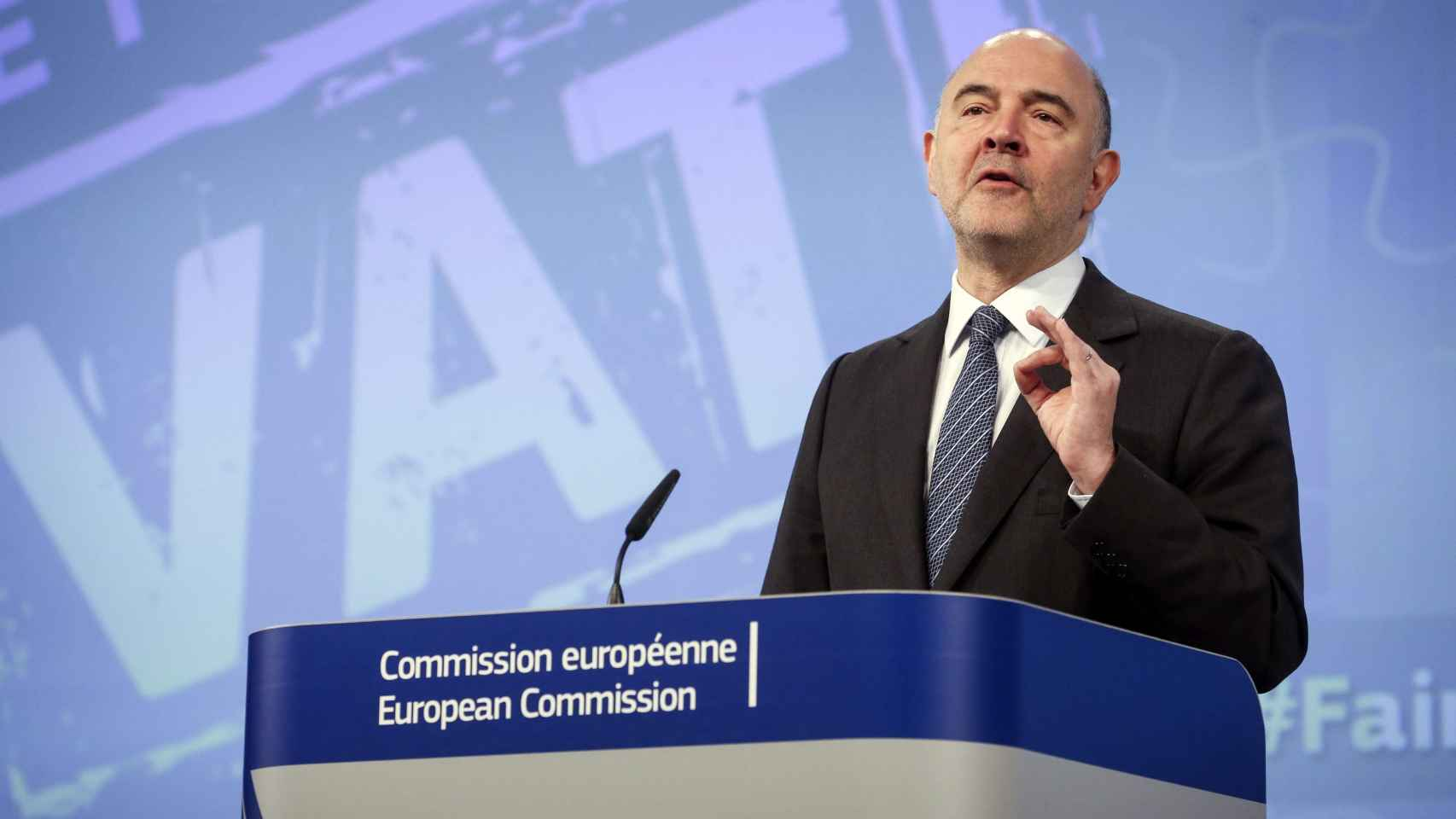 Pierre Moscovici, comisario europeo de Asuntos Económicos y Financieros