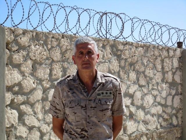 El coronel Carcaño, al frente del operativo español en Somalia.