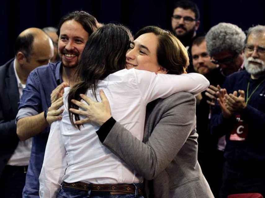 Pablo Iglesias y Ada Colau en una imagen de archivo. /Alberto Estévez/EFE