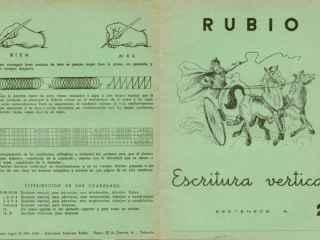 Ejemplar antiguo de los cuadernos Rubio.