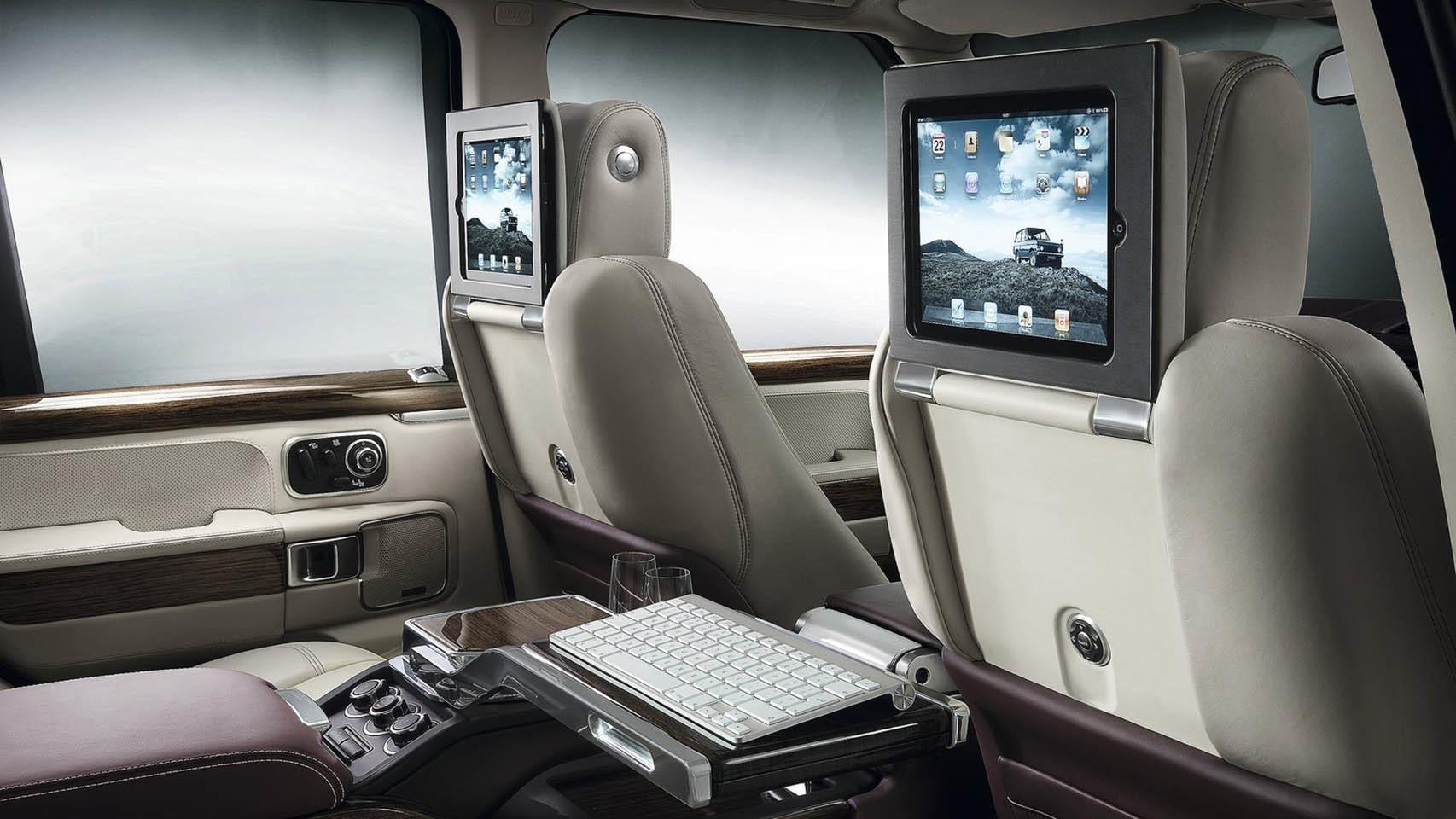 Interior del Land Rover Evoque.