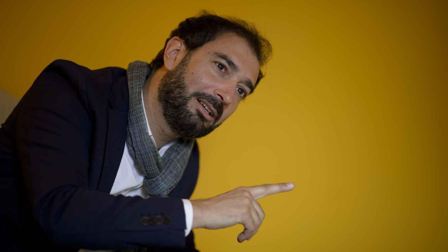 El escritor catalán, durante la entrevista.