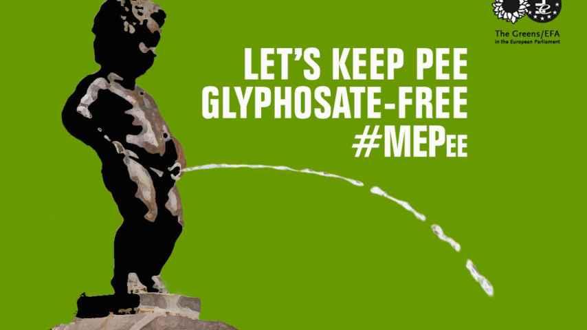 Los Verdes europeos han lanzado una campaña contra el glifosato.