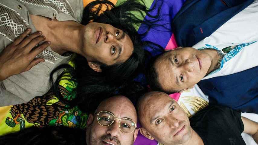 Los cuatro protagonistas -activistas, artistas y abogado- del documental Primavera Rosa.