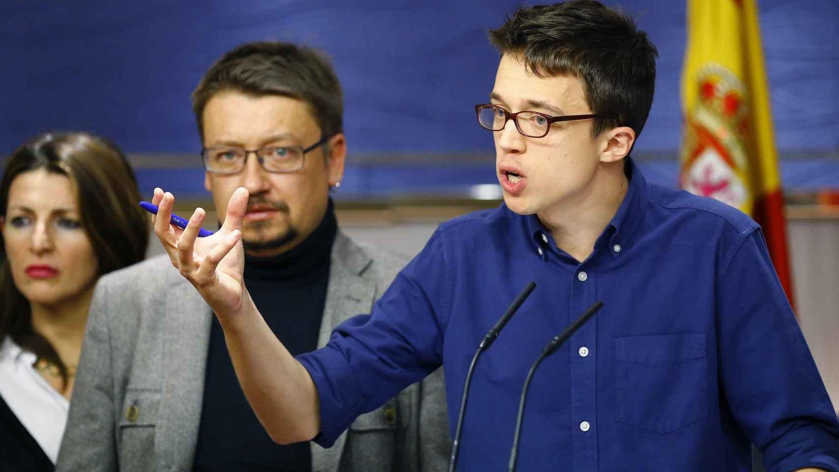 Íñigo Errejón en una comparecencia en el Congreso.