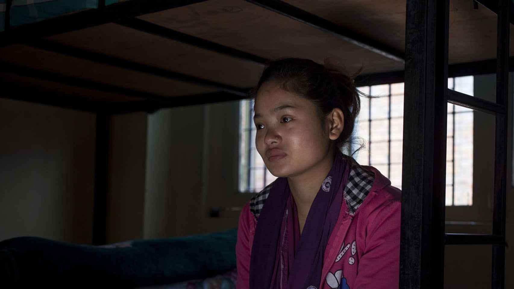 Phulsani Tamang fue víctima de la trata a los 11 años. Fue rescatada en una redada.