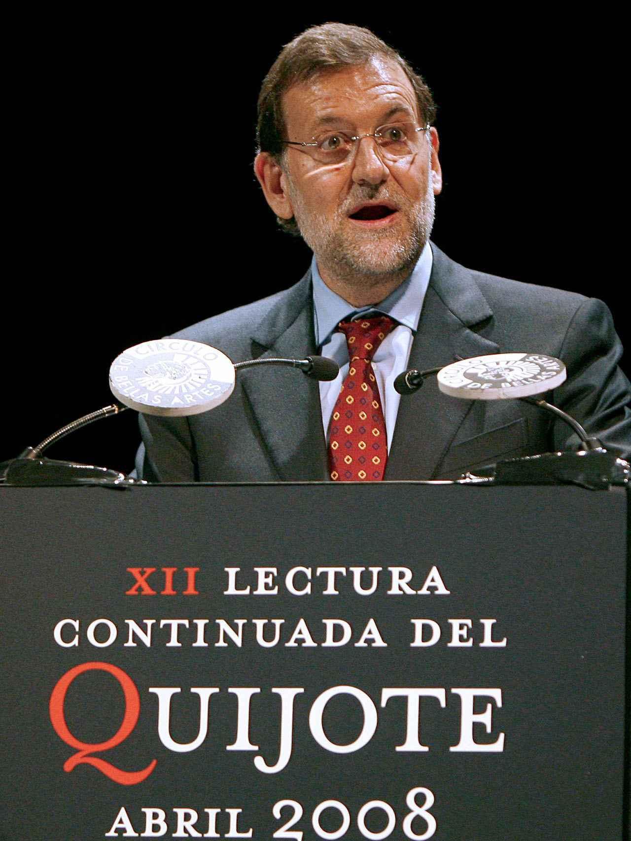 Mariano Rajoy en la lectura de El Quijote.