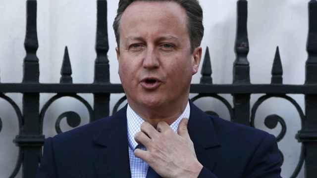 David Cameron en Londres durante un homenaje a las víctimas del terrorismo