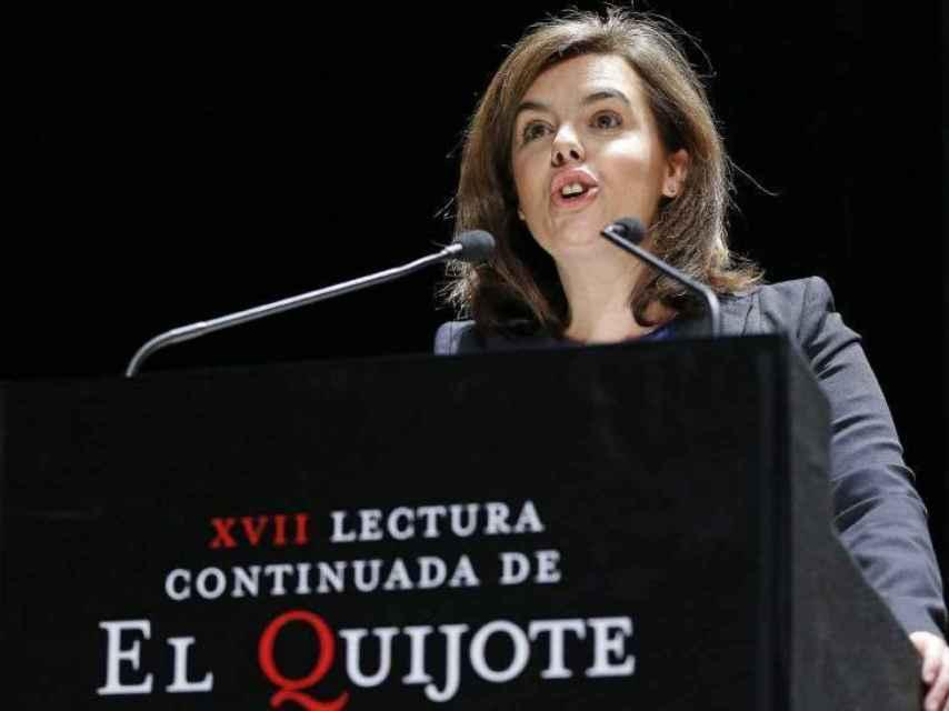 Soraya Sáenz de Santamaría en la XVII lectura continuada de El Quijote.