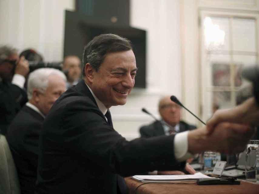 Mario Draghi, durante su visita a Portugal.
