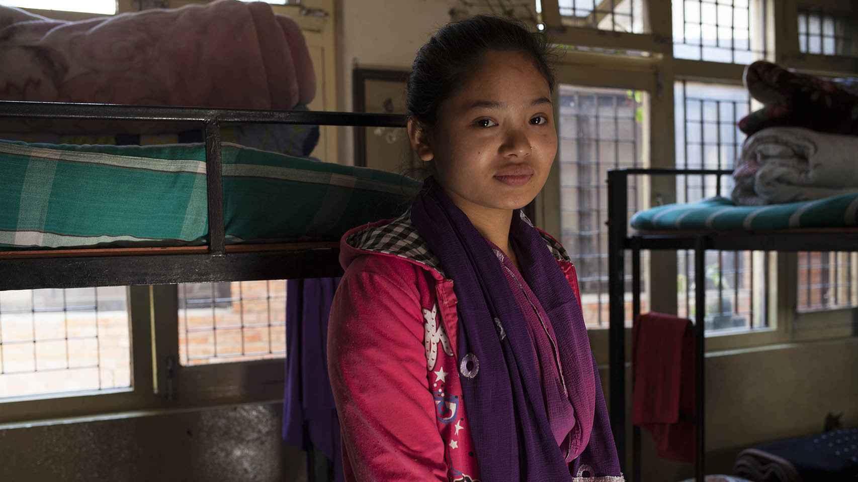 Phulsani fue víctima de la trata a los 11 años. Fue rescatada en una redada.
