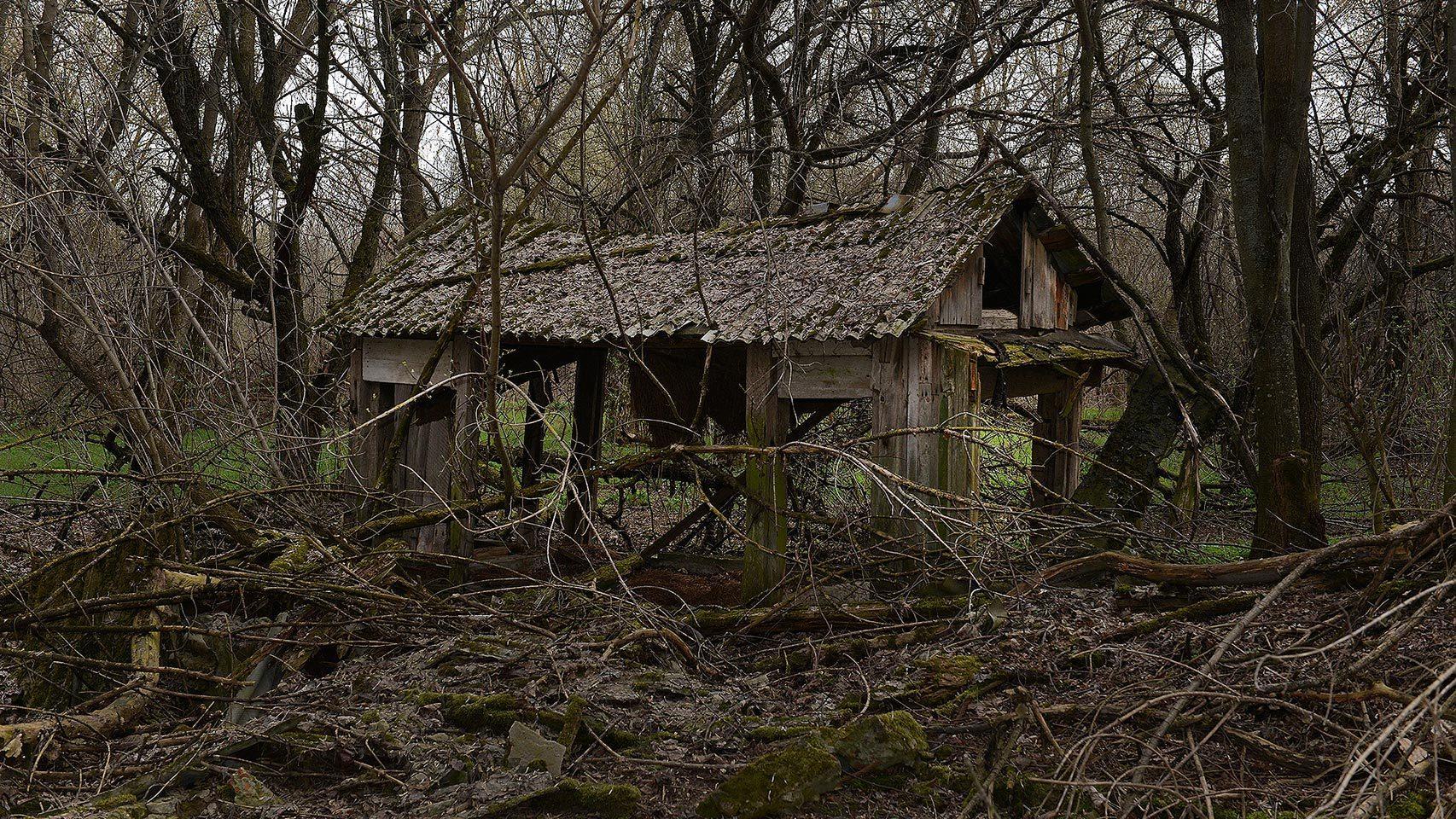 Casa abandonada por la radiación.