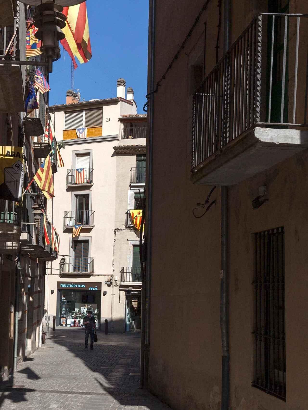 Ambiente en el centro de Girona.