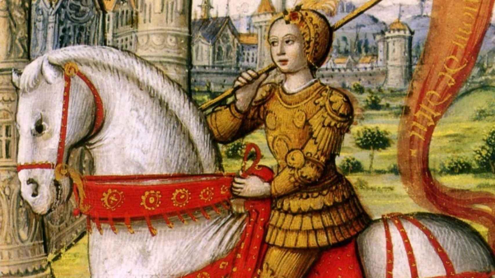 Juana de Arco , la devota zurda.
