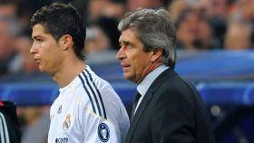 Pellegrini y Ronaldo, en 2009.