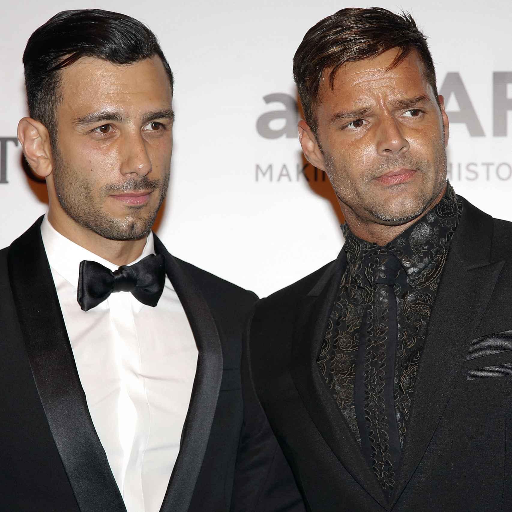 Ricky Martin en el primer photocall con su nueva pareja