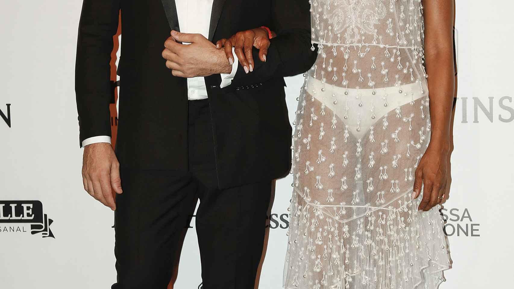Ricardo Tisci y Naomi Campbell en la Gala AmfAR de Sao Paulo
