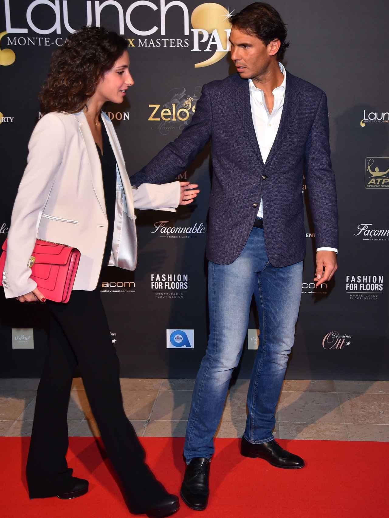 Xisca y Rafa en la fiesta Zelo de la presentación en del Torneo de Montecarlo