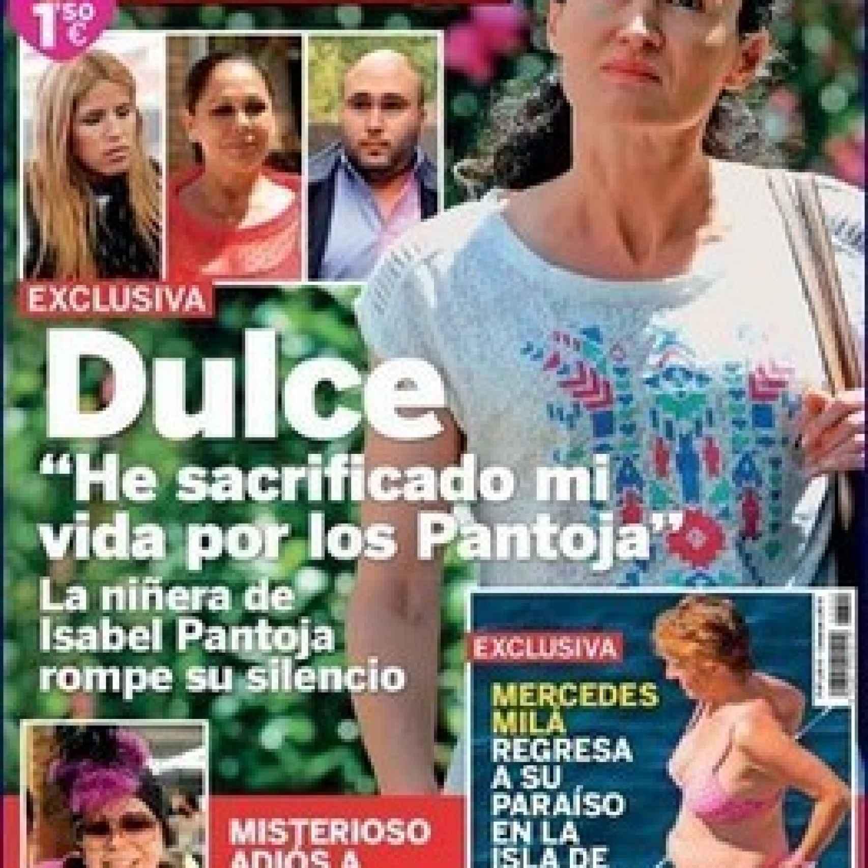 Dulce concedió su primera entrevista a Lecturas hace unos meses
