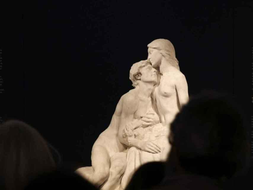 La escultura Eclosión, en la muestra dedicada a Miguel Blay.