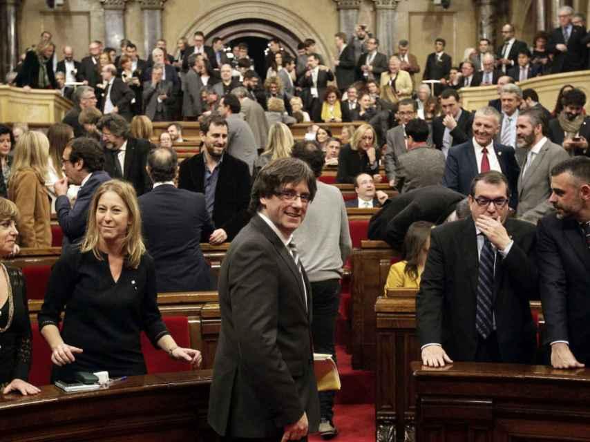 Carles Puigdemont en el Pleno.