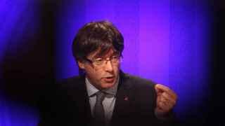 Puigdemont, durante la rueda de prensa posterior a la reunión del ejecutivo catalán.