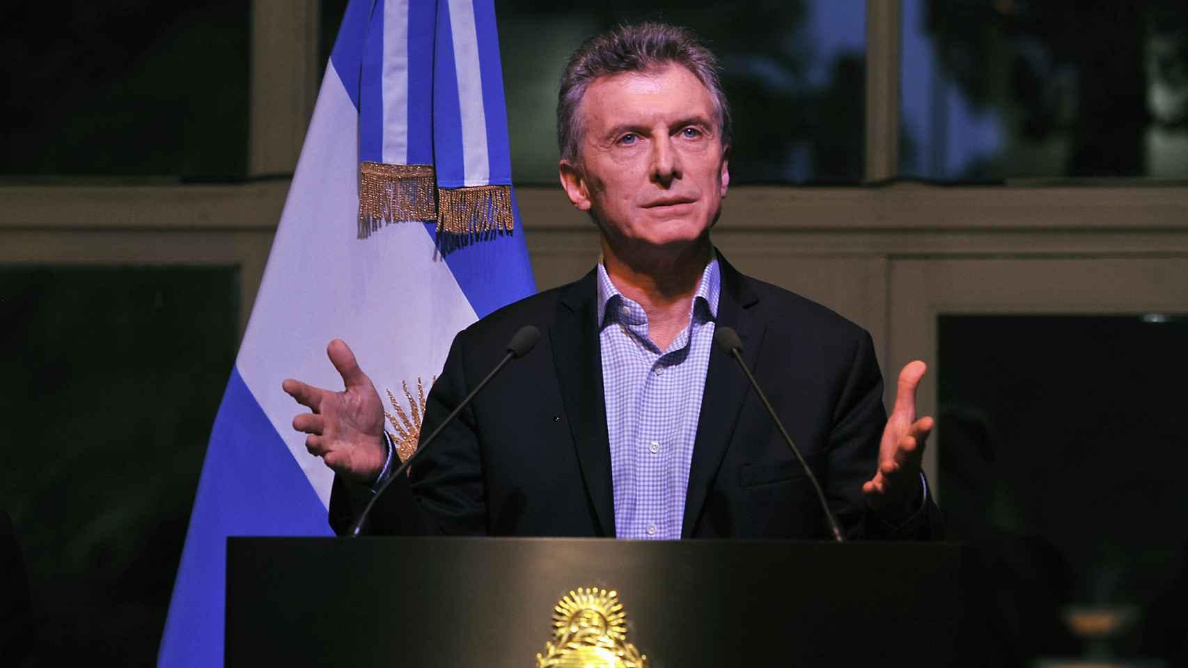 El presidente argentino, Mauricio Macri.