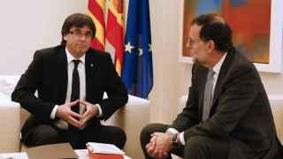 El presidente del Gobierno en funciones, Mariano Rajoy y el de la Generalitat, Carles Puigdemont.