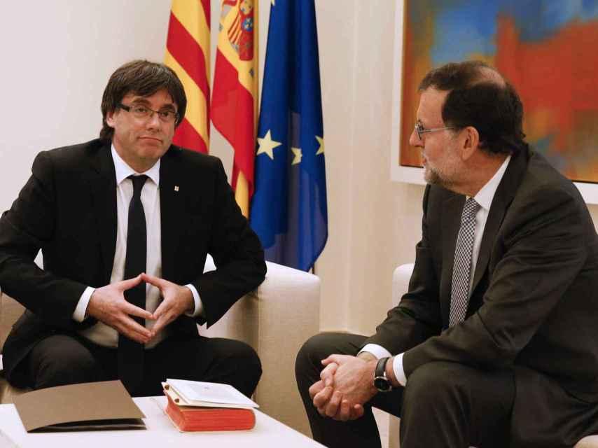 El presidente del Gobierno, Mariano Rajoy y el de la Generalitat, Carles Puigdemont.